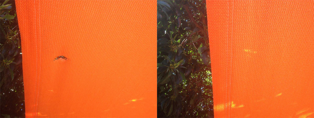 repairing holes in shade sails